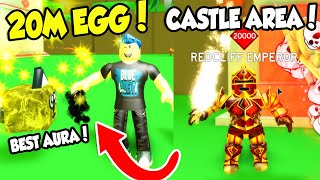 NEW CASTLE AREA AND 20M WOLF PET IN SLAYING SIMULATOR!! (Roblox) thumbnail