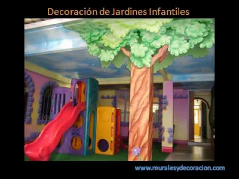 Murales infantiles 3 avi youtube for Decoracion para jardin infantil