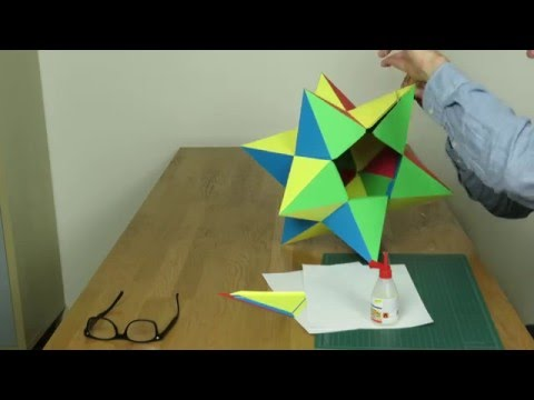 Paper Small Stellated Dodecahedron Tutorial