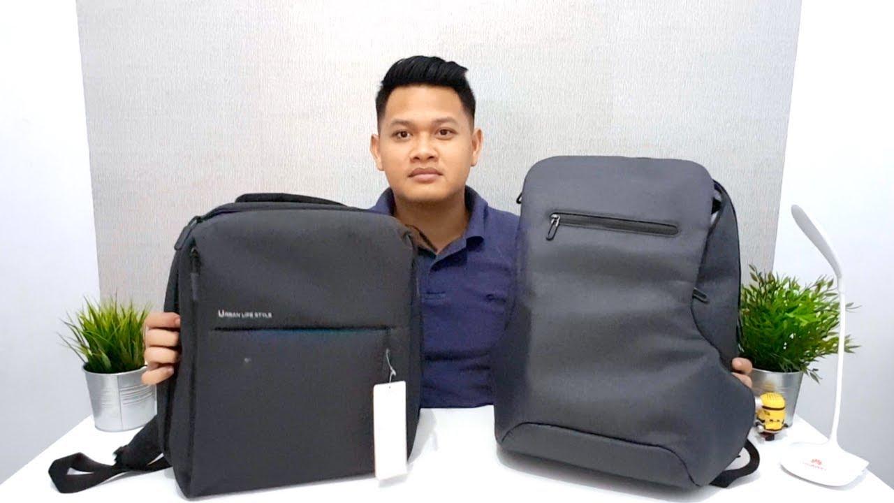 Unboxing Tas Xiaomi   Mi Minimalist Urban Lifestyle vs Premium Black  Backpack bf9373fff2dfb