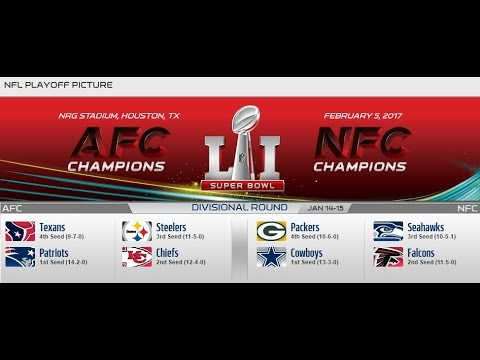 2016-17 NFL Divisional Round Predictions - 100% Accurate!
