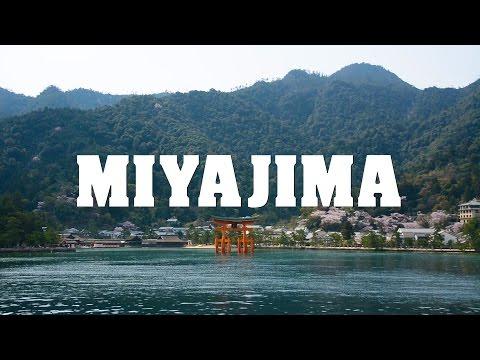 Miyajima Island 宮島 scenic spots in Japan with floating shrine and Otorii