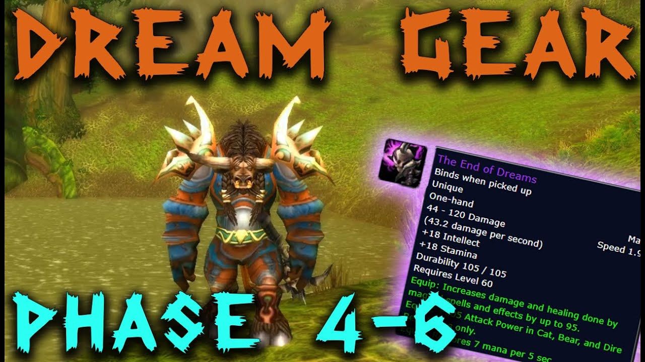 My Dream Druid Gear And Talents Classic Wow Youtube