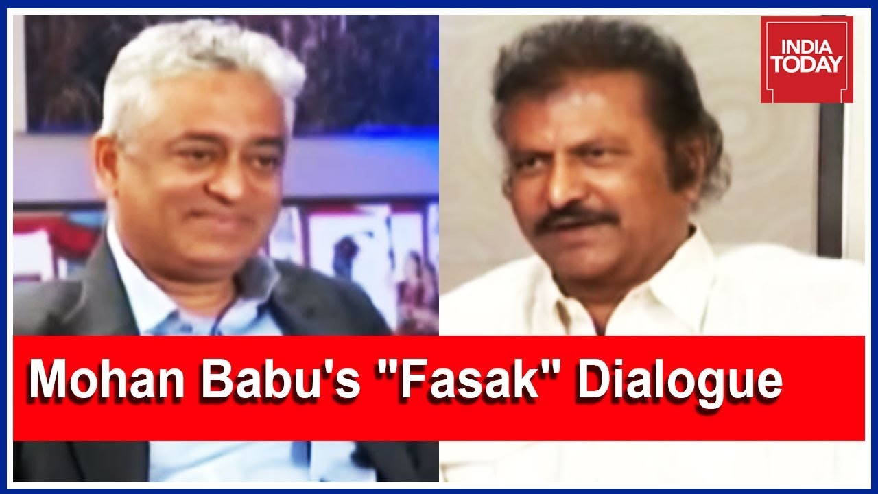 Mohan Babu S Famous Fasak Dialogue With Rajdeep Sardesai Youtube