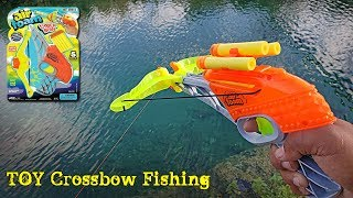 Toy Crossbow DIY Nerf Fishing Challenge!