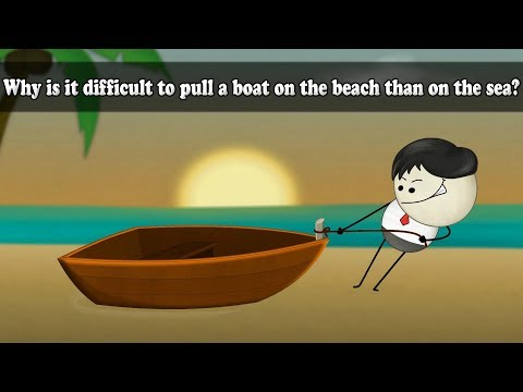 Friction - Why is it difficult to pull a boat on the beach than on the sea?   #aumsum #kids #science