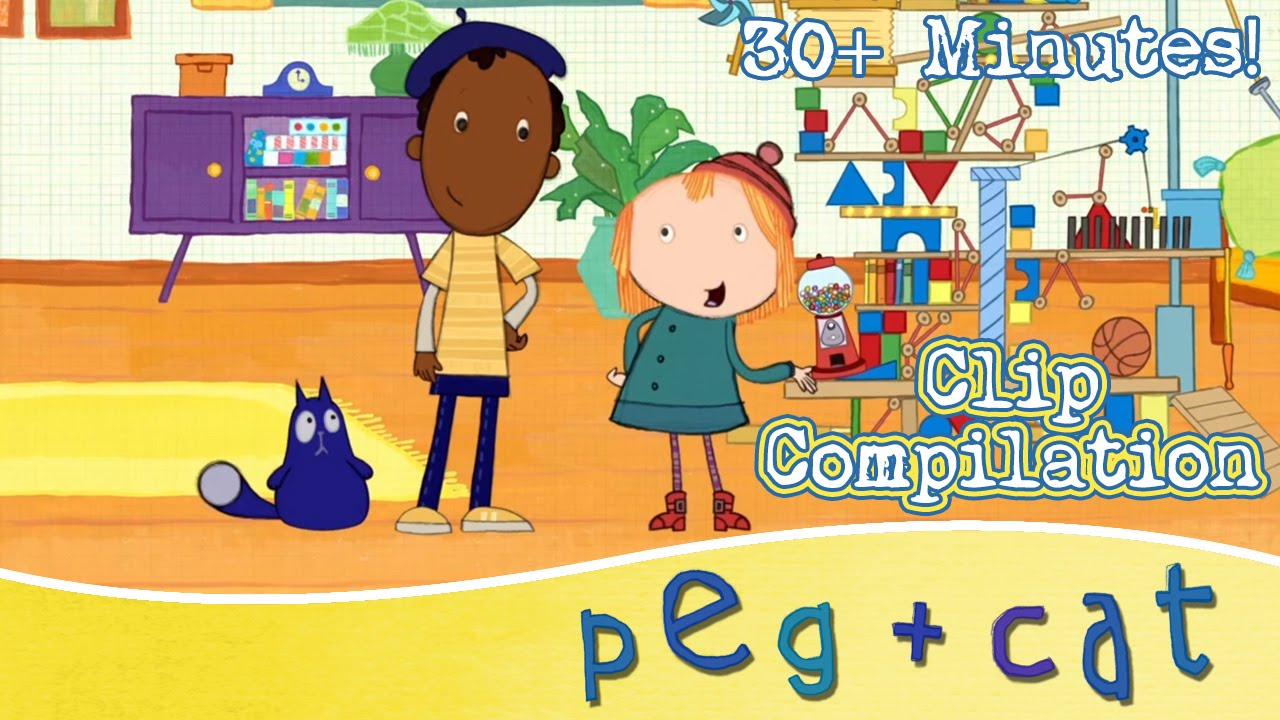 Peg Cat Learning Math For Kids 30 Minutes Youtube