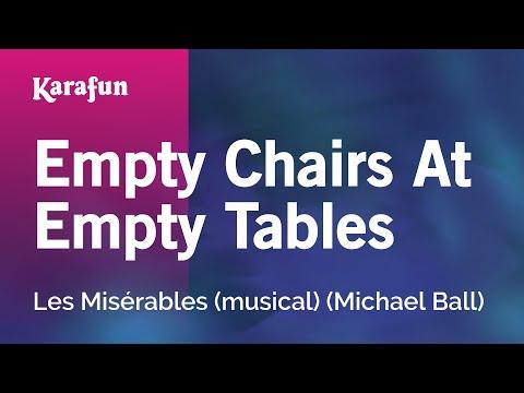 Karaoke Empty Chairs At Empty Tables - Les Misérables (Michael Ball) *