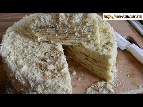 Рецепт торта наполеон в домашних условиях на сковороде