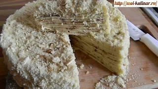 """Торт """"Наполеон"""" на сковороде Готовится, быстро и получается изумительно вкусным."""