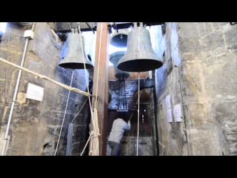 Christmas Church Bell Tolling at Tower of Miguelete in Valencia, Spain