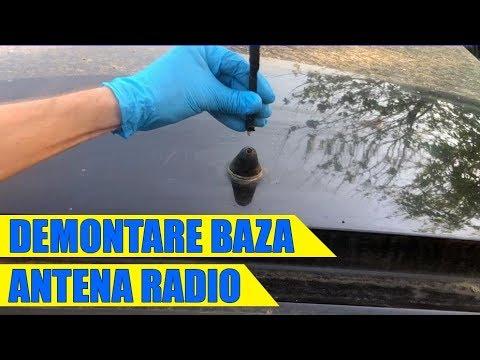 TUTORIAL: Demontare baza / suport antena radio VW Golf 4, Bora, Polo, Passat in 8 pasi