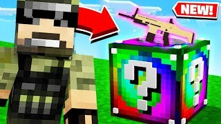 LUCKY BLOCK Gun Game Challenge in Minecraft