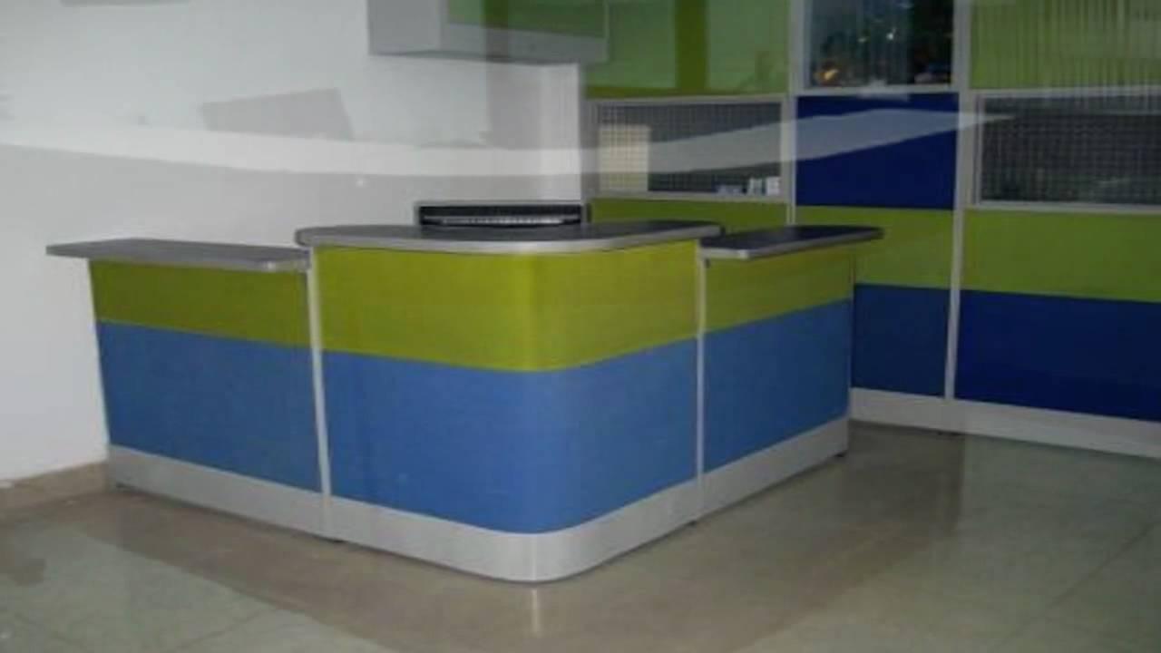 Oficinas modulares m dulo tipo caja y recepci n youtube for Cubiculos de oficina