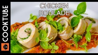 Chicken Roulade Recipe  Cheese, Mushroom & Spinach Stuffing