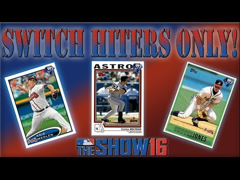 MLB The Show 16 Diamond Dynasty Gameplay: The Best Switch Hitters Only Lineup!