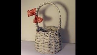 Repeat youtube video Papierowa wiklina - koszyk z rączką