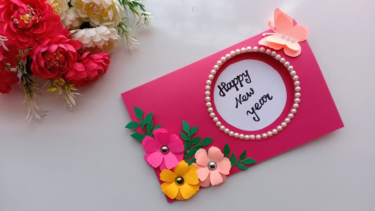 Beautiful Handmade Happy New Year 2019 Card Idea DIY Greeting Cards For