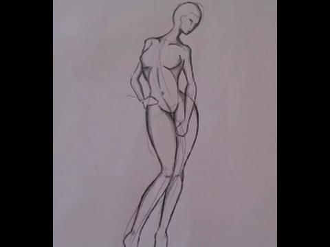 Comment dessiner un corps humain , simple et efficace! [tutoriel dessin] -  YouTube
