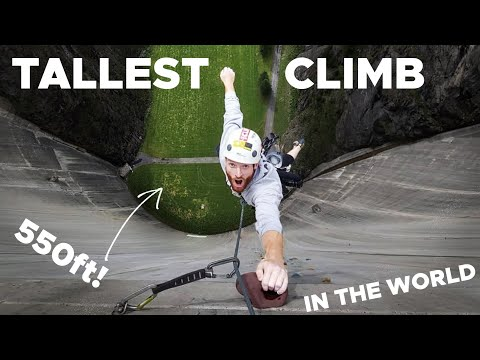 Climbing The WORLDS HIGHEST Artificial Climbing Route! 650++ Holds On A Dam