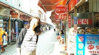 海雲台 市場 散歩♪ 海雲台 @韓国 釜山 【 関釜フェリーで行く! 韓国 釜山 家族旅行】