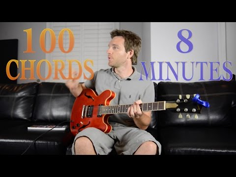 Learn 100 Chords in 8 Minutes