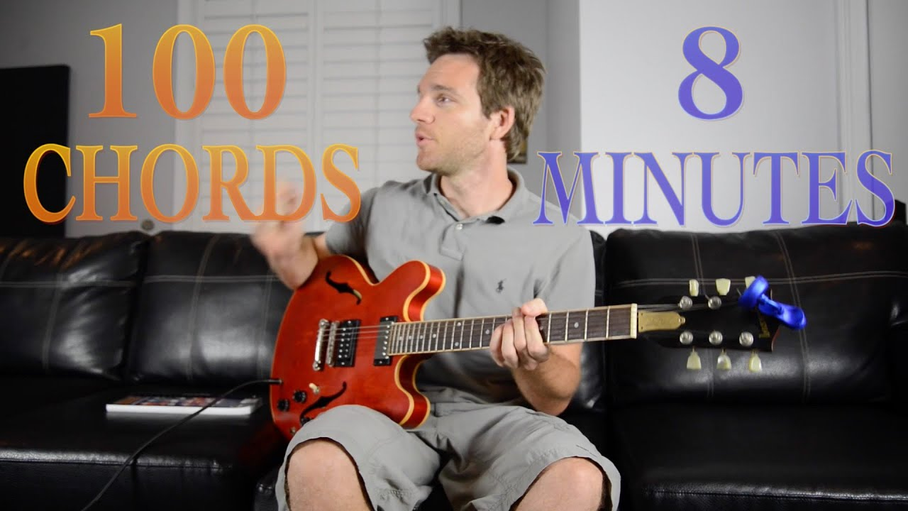 Learn 100 Chords In 8 Minutes Youtube