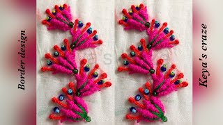 Hand embrodiary design | Border design with spider web stitch | Keya's craze | hand embroidery-73