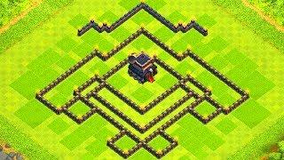 MY SECRET BEST TH9 BASE DESIGN!  Clash of Clans