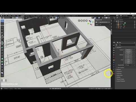 blender-2.8---build-a-3d-house-from-floorplans-(pt-2)
