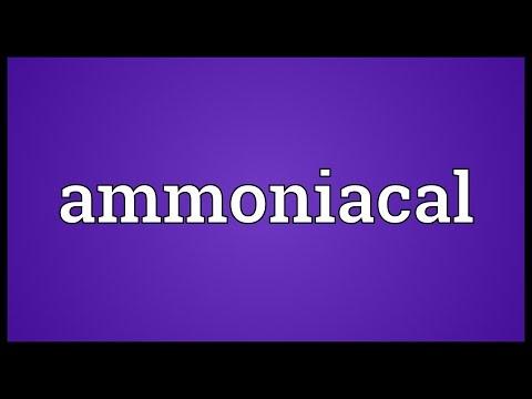 Header of ammoniacal