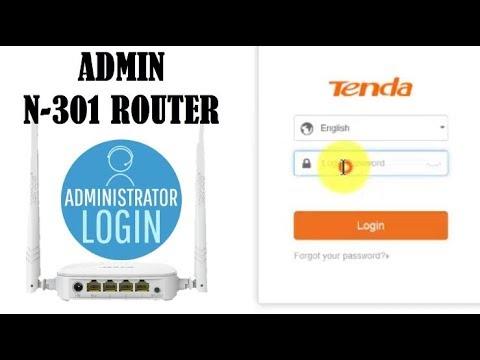 Setting Password Login Router Tenda N-301