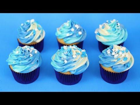 recette cupcake d'hiver reine des neiges rapide et facile - youtube
