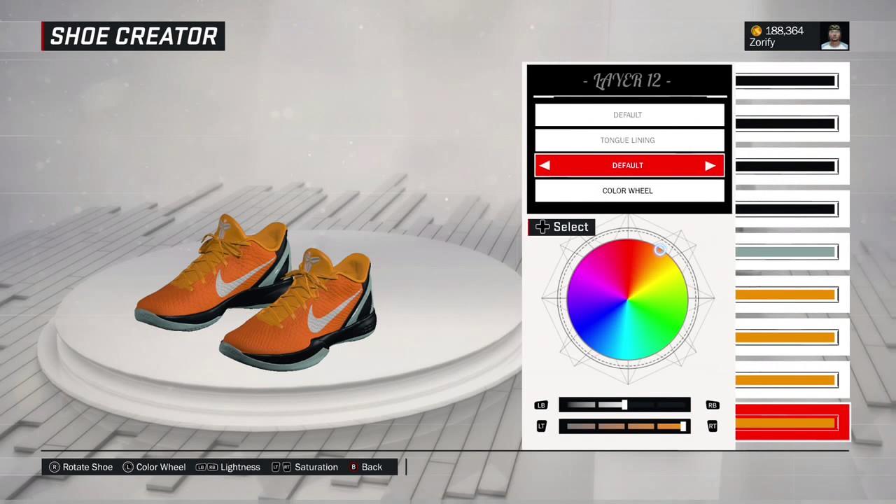 15bc35d1bf1 NBA 2K17 Shoe Creator - Nike Kobe 6