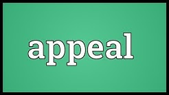 Appeal Meaning
