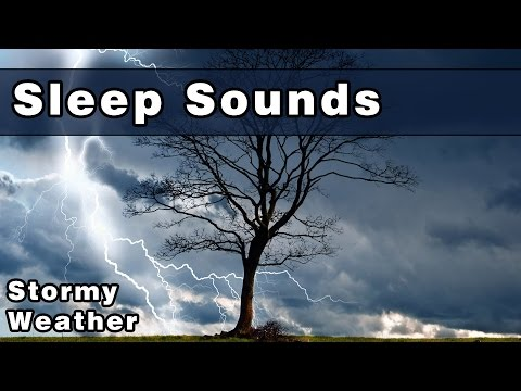SLEEP SOUNDS: Stormy Weather, Rain Sounds, Wind, Thunderstor