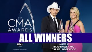 CMA Awards 2017 - All Winners | Country Music Awards 2017 | ChartExpress