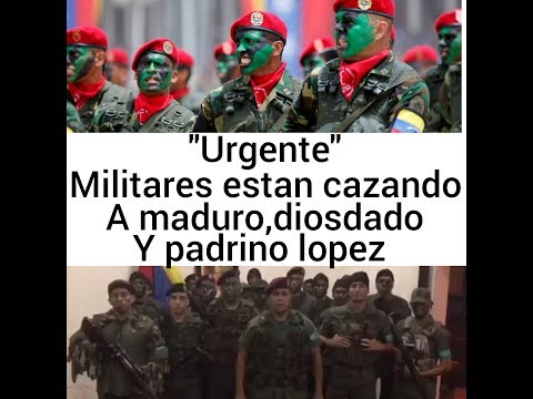 Urgente militares salen a la caza de maduro,diosdado y padrino lopez! Venezuela 10 de agosto 2017