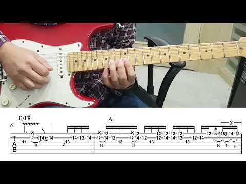 [Bon jovi] Always Guitar solo with TAB (Slow)