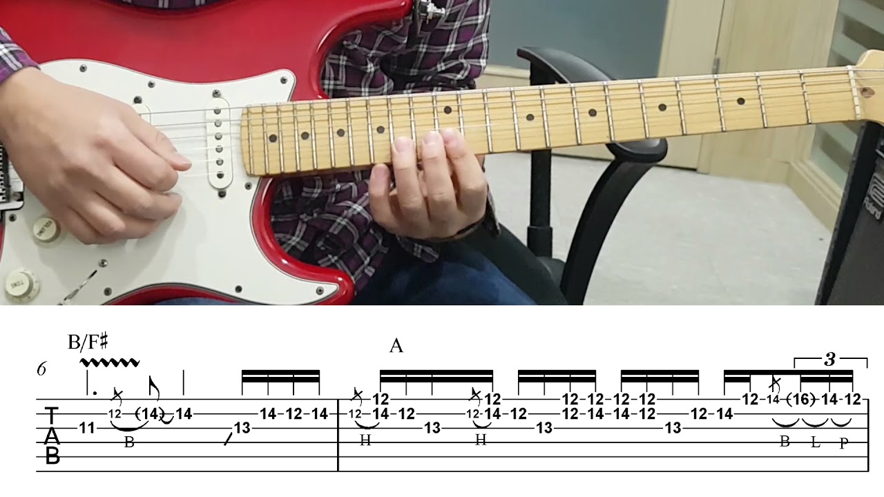 Bon Jovi Always Guitar Solo With Tab Slow Youtube