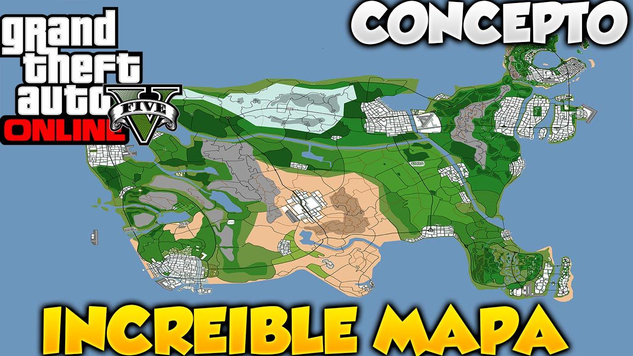 GTA V Online Increible Mapa De GTA USA Idea Y Concepto Para GTA VI - Mapas usa