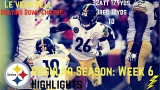 Le'veon Bell Week 6 Regular Season Highlights Shredding | 10/15/2017