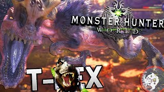connectYoutube - Monster Hunter World - Hunting A Furry T REX! (Switch Axe Gameplay)
