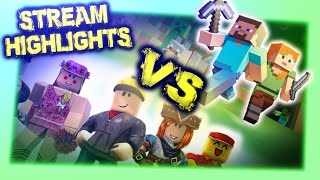 Minecraft VS. Roblox - France Stream Faits saillants!