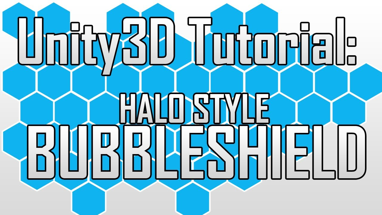 [Unity3D] Creating a Halo-style Bubble Shield in Unity3D - 3DS Max - PS