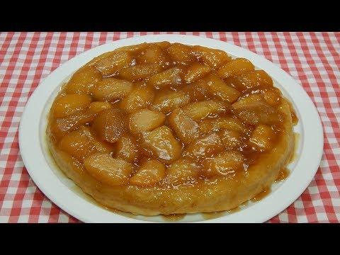 Receta fácil de tarta Tatin de manzana con masa casera