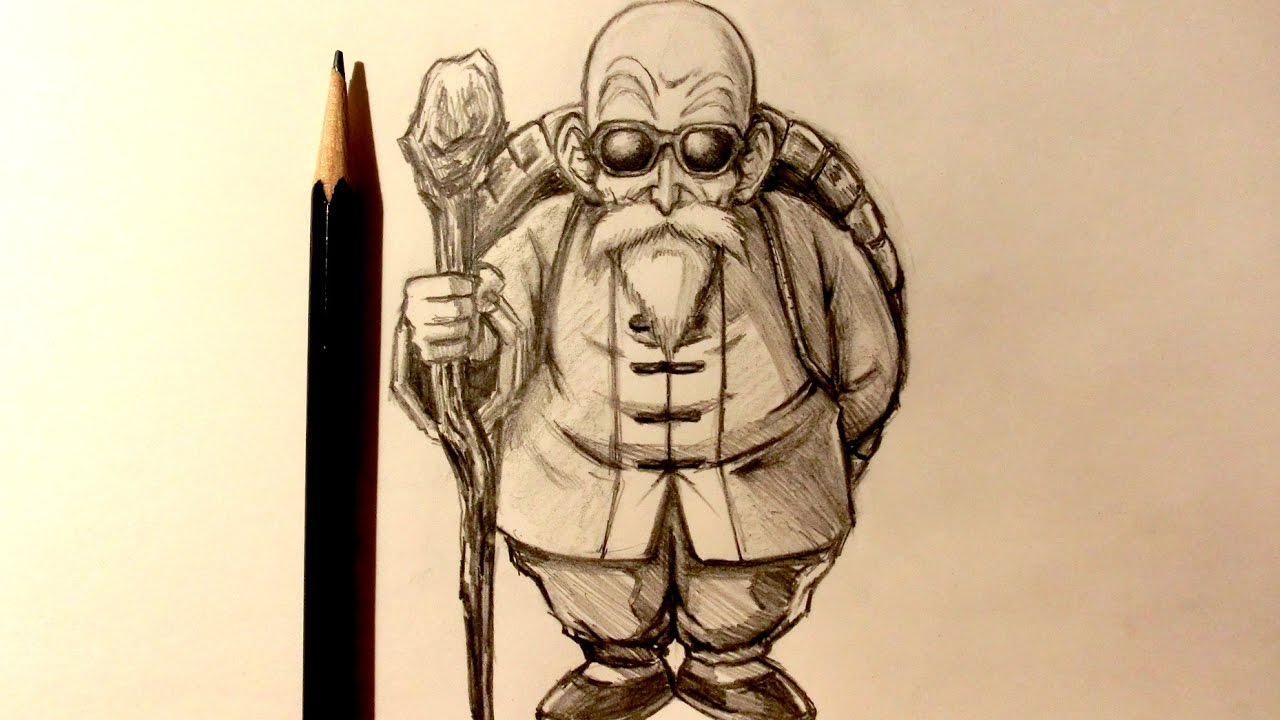 Asmr pencil drawing 74 master roshi request