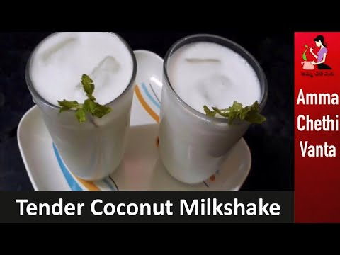 Coconut Milkshake Recipe In Telugu | Tender Coconut Milkshake | Coconut Juice/Summer Special Recipes