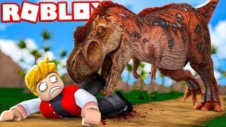 I WAS SWALLOWED BY A DINOSAUR IN THE ROBLOX!