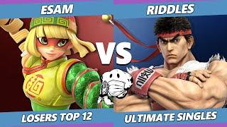 GOML 2020 SSBU - PG | ESAM (Pikachu, Min Min) Vs. EMG | Riddles (Ryu) Ultimate Top 12 Losers